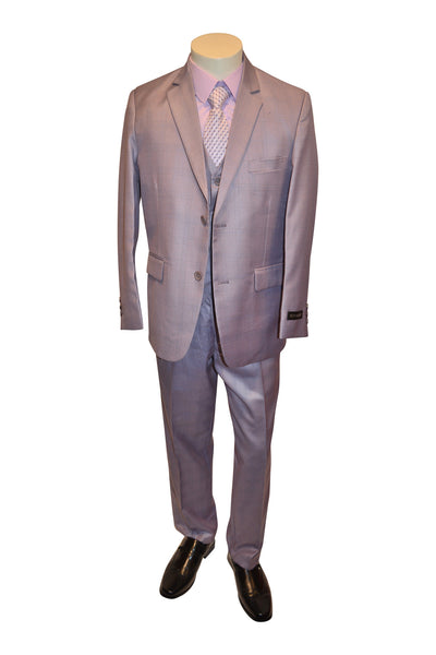 Ronaldo Light Violet Plaid 5 pc Suit