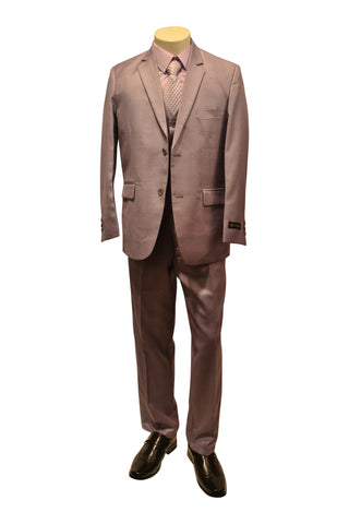 Ronaldo Purple Linen 5 pcs Suit