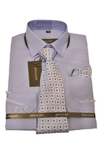 Ronaldo 3pc Zinc Blue Shirt Set