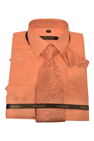Ronaldo 3pc Coral Shirt Set