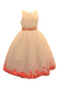 Ashley Dress with Red Petals and Diamond Crusted Ribbon