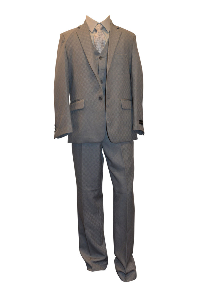 Ronaldo Inspired Gucci Silm Grey 5 pc Suit