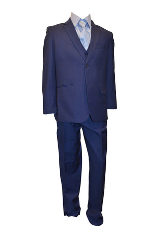 Ronaldo Business Blue  Designer  5 pcs Suit