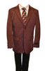 Ronaldo Boys Designer Single-Breasted Burgundy Velvet Blazer Jacket