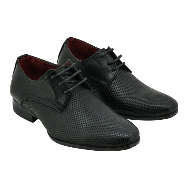 Boys Classic Black Lace Loafers