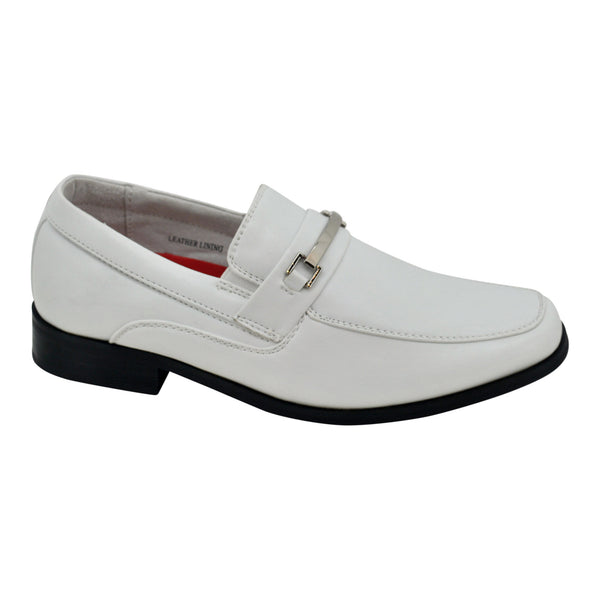 Boys Classic White H Loafers