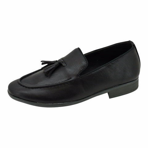 Boys Classic Black with Tassel Loafers