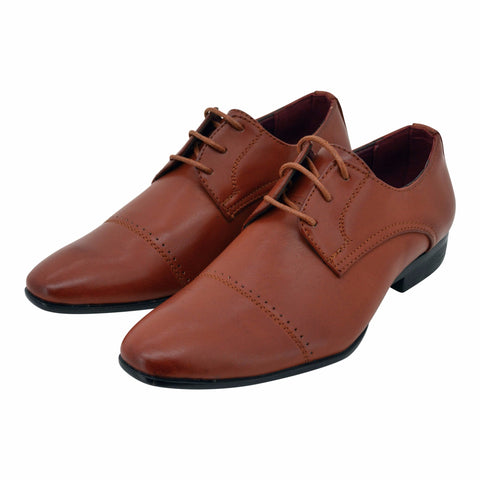 Boys Classic Tan Lace Loafers