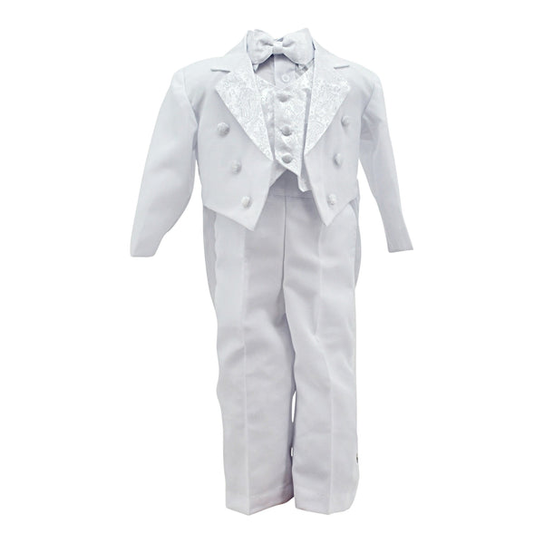 Designer Baby Boy Tuxedo with Tail Christening