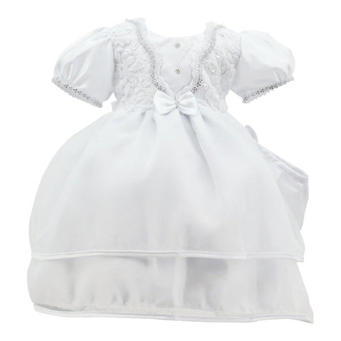 Baby Girl Paparazzi White Christening Dress