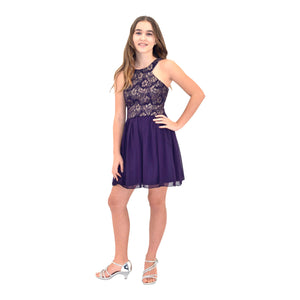Paparazzi Coutoure Deep Purple Grad Dress