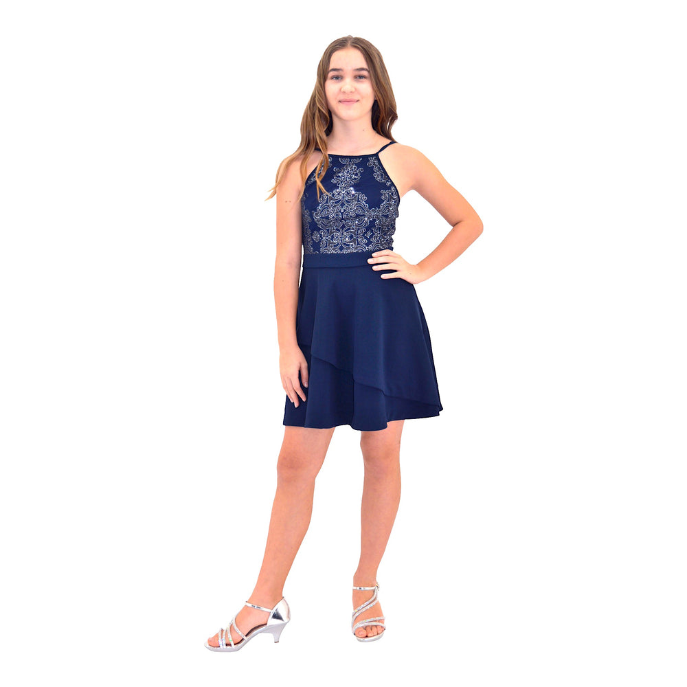 Paparazzi Coutoure Navy Blue Grad Dress