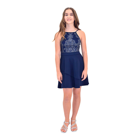 Paparazzi Cotoure Navy Blue Grad Dress
