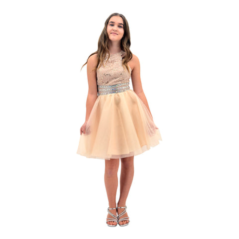 Paparazzi Cotoure Gold Grad Dress