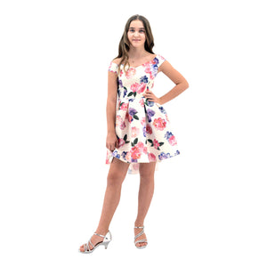 Paparazzi Cotoure Dress Pink & Ivory Floral