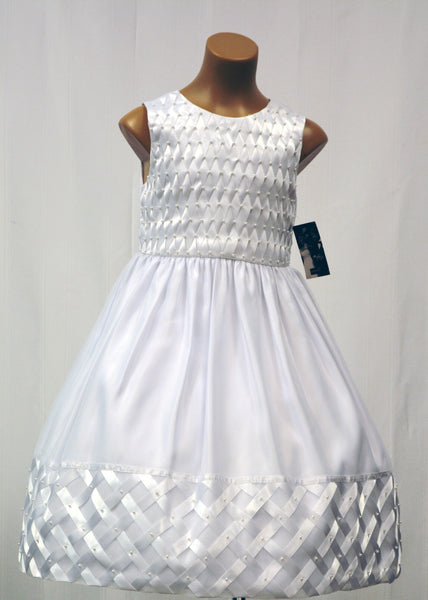 Paparazzi Shantung Satin w/ Pearl Accents First Communion Dress