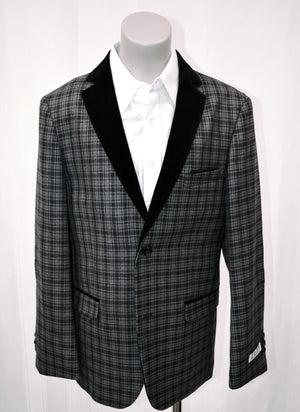 Boys Designer Wool-Blend Tweed Blazer Jacket