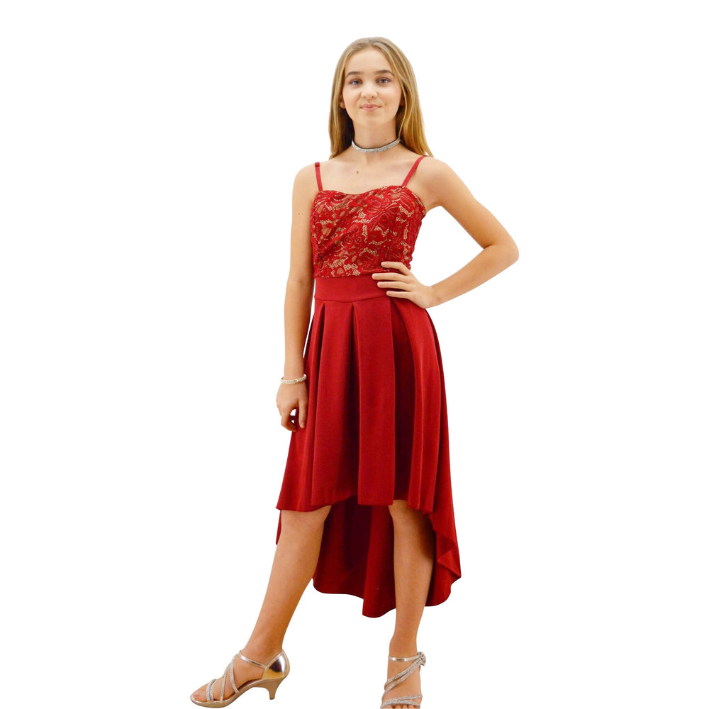 Paparazzi Couture design dress in Burgundy Lace