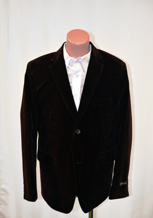 Paparazzi Single-Breasted Velvet Blazer Jacket