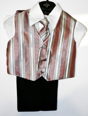 Boys 4-piece Vest Set
