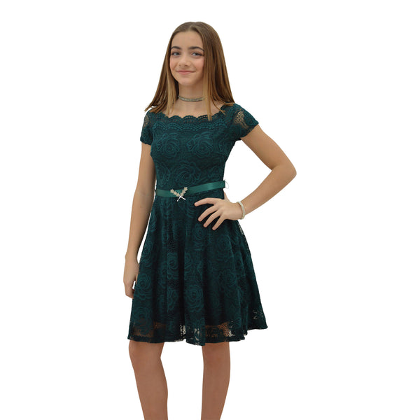 Paparazzi Couture design dress in Green Lace