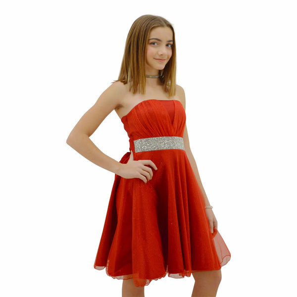 Paparazzi Couture Diamond design dress in Red