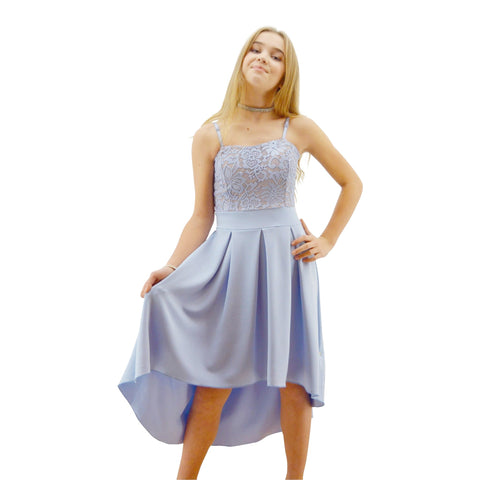 1347148257b Paparazzi Couture design dress in Tiffany Blue Lace ...