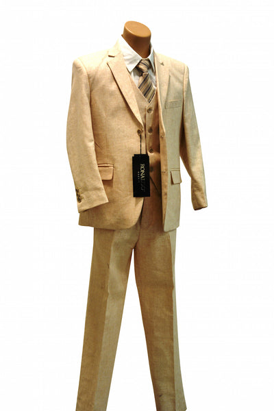 Ronaldo Natural Linen  5 pcs Suit
