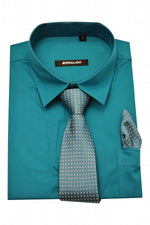 Ronaldo 3 pc Aqua Shirt Set