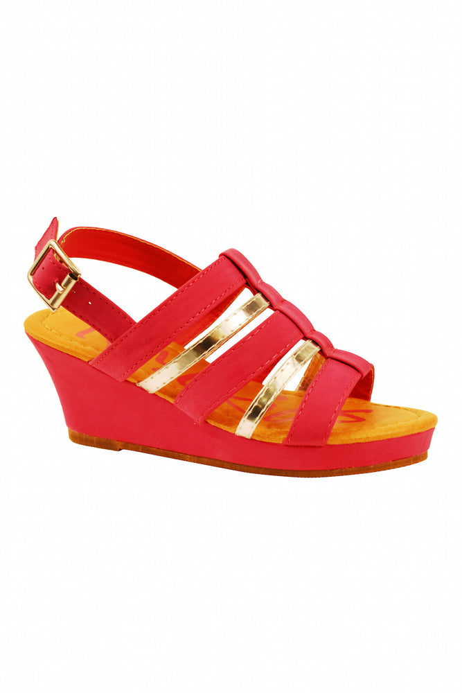 Wedge Sandal in Fuschia
