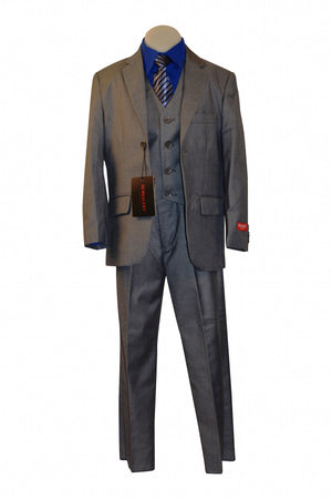 Ronaldo Light Grey 5 pc Suit