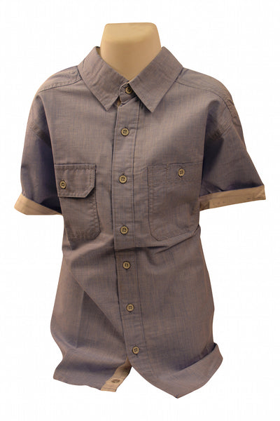 Boys Cotton Short Sleeve Shirt