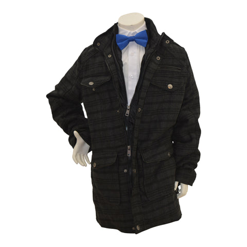 Boys' Wool 3/4 Plaid Jacket