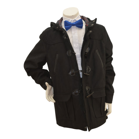 Boys' Wool Toggle Jacket with hood