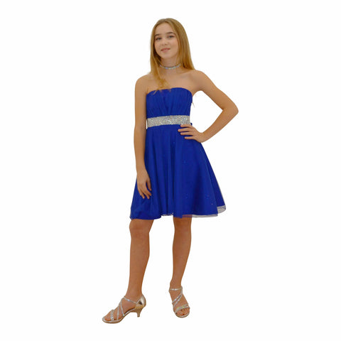 Paparazzi Couture Diamond design dress in Electric Blue