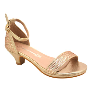 Girl Rose Gold Diamond Heel