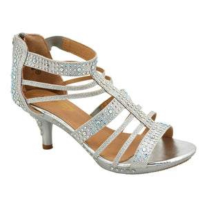 Girls Silver Communion Heel
