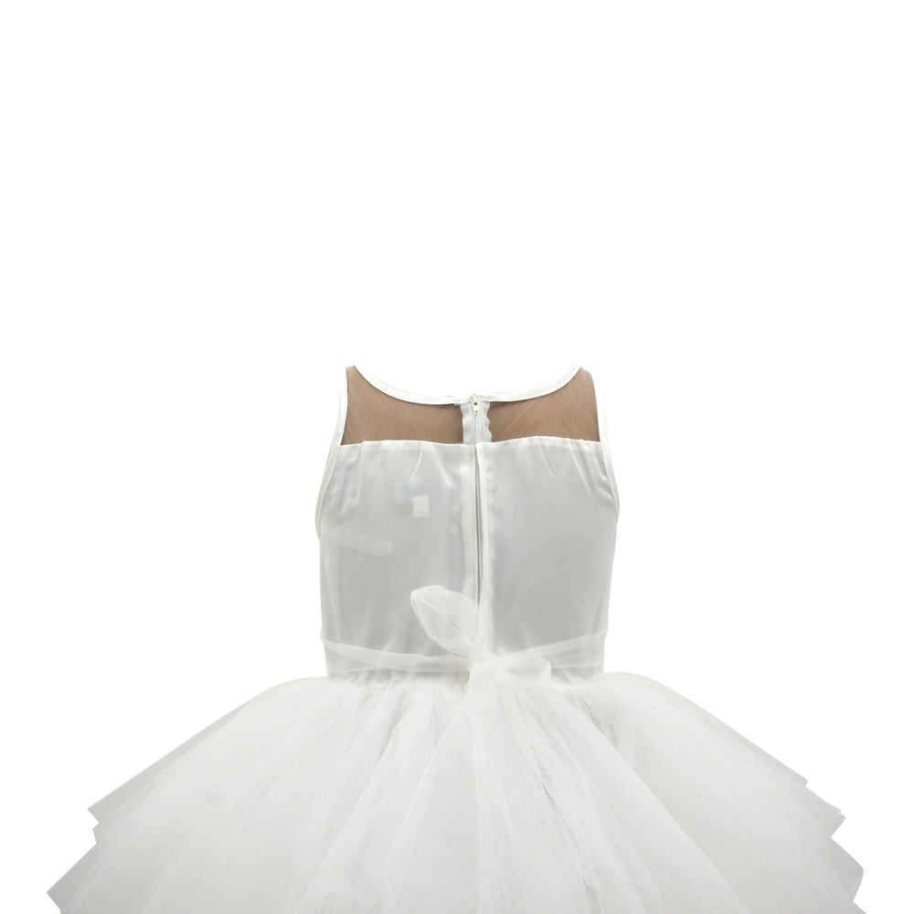 Paparazzi White Designer Hi and Low with Ruffled Bottom