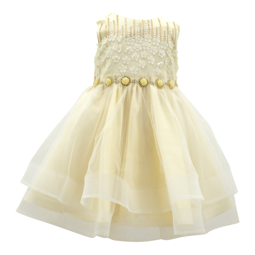 Baby Dress in Candlelight Gold