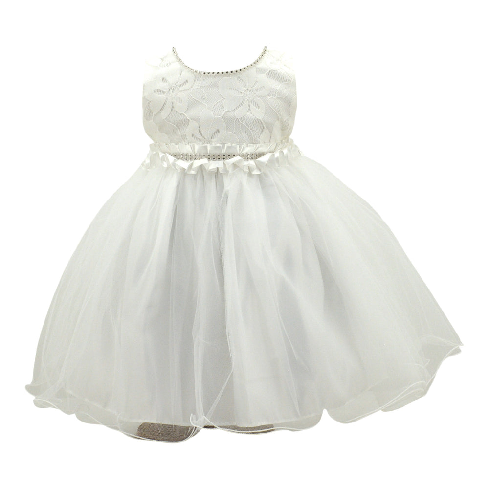 Baby Girl Paparazzi Ivory White Christening Dress
