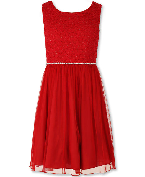 Paparazzi Designer Sequence Dress in Holiday Red