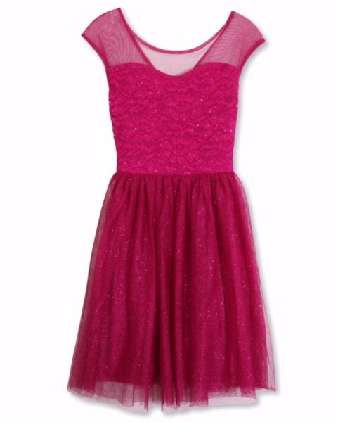 Designer Sequence Dress in Fuchsia