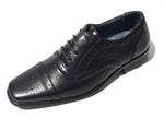 Boys Classic Wing Tips in Black
