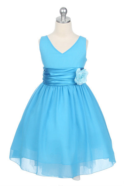 Chiffon Dress in Turquoise