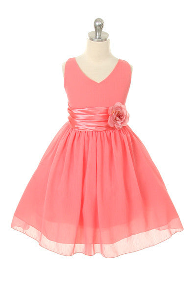 Paparazzi Chiffon Dress in Coral