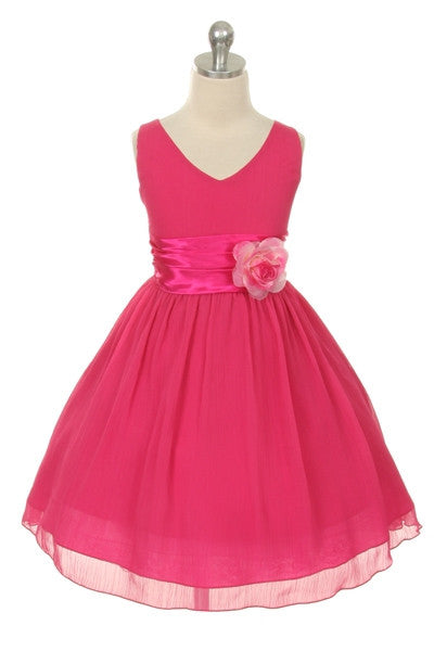 Paparazzi Chiffon Dress in Fuschia