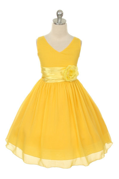 Paparazzi Chiffon Dress in yellow