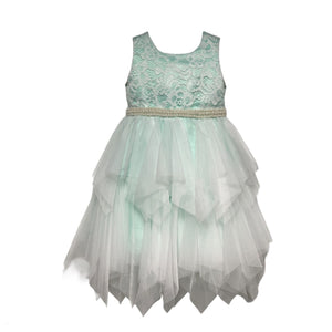 Paparazzi Mint lace Ruffle Dress