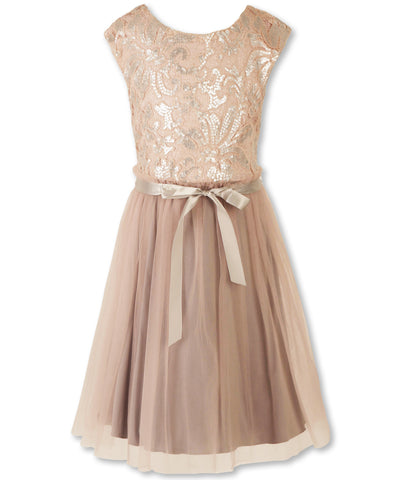 Designer Sequence Dress in Princess Pink