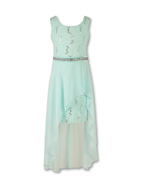 Designer Sequence Dress in Mint